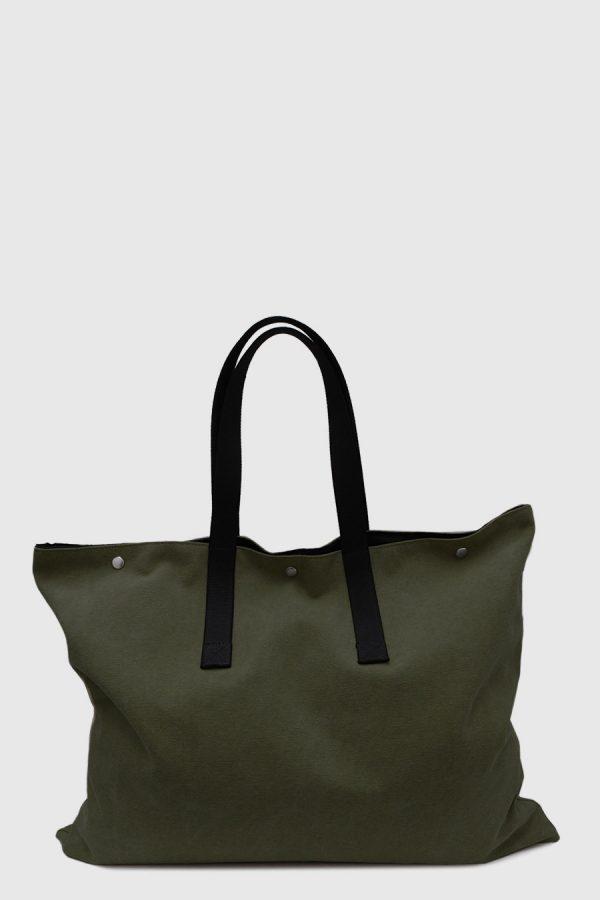 Bolso grande para artista impermeable color kaki verde hecho en España