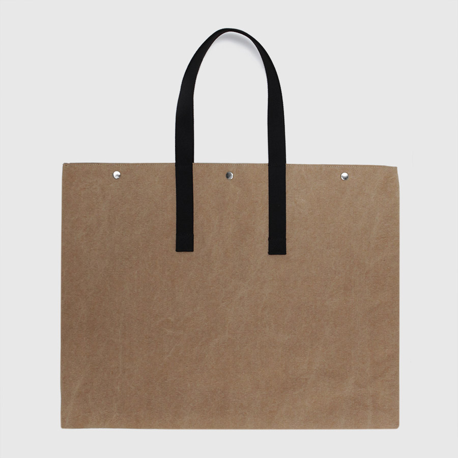 Large Brown Canvas Tote Bag