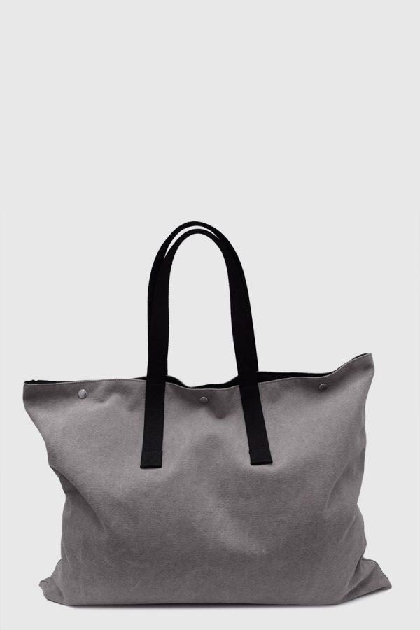 Bolso grande para artista impermeable color gris hecho en España