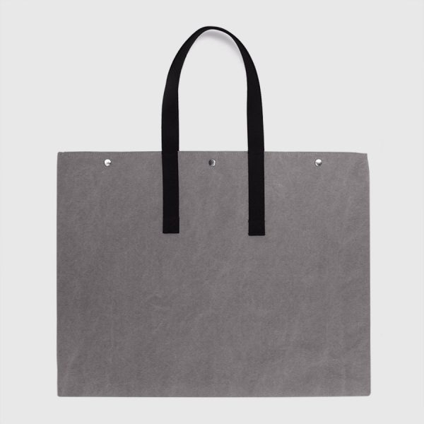 grey canvas totebag Din A2