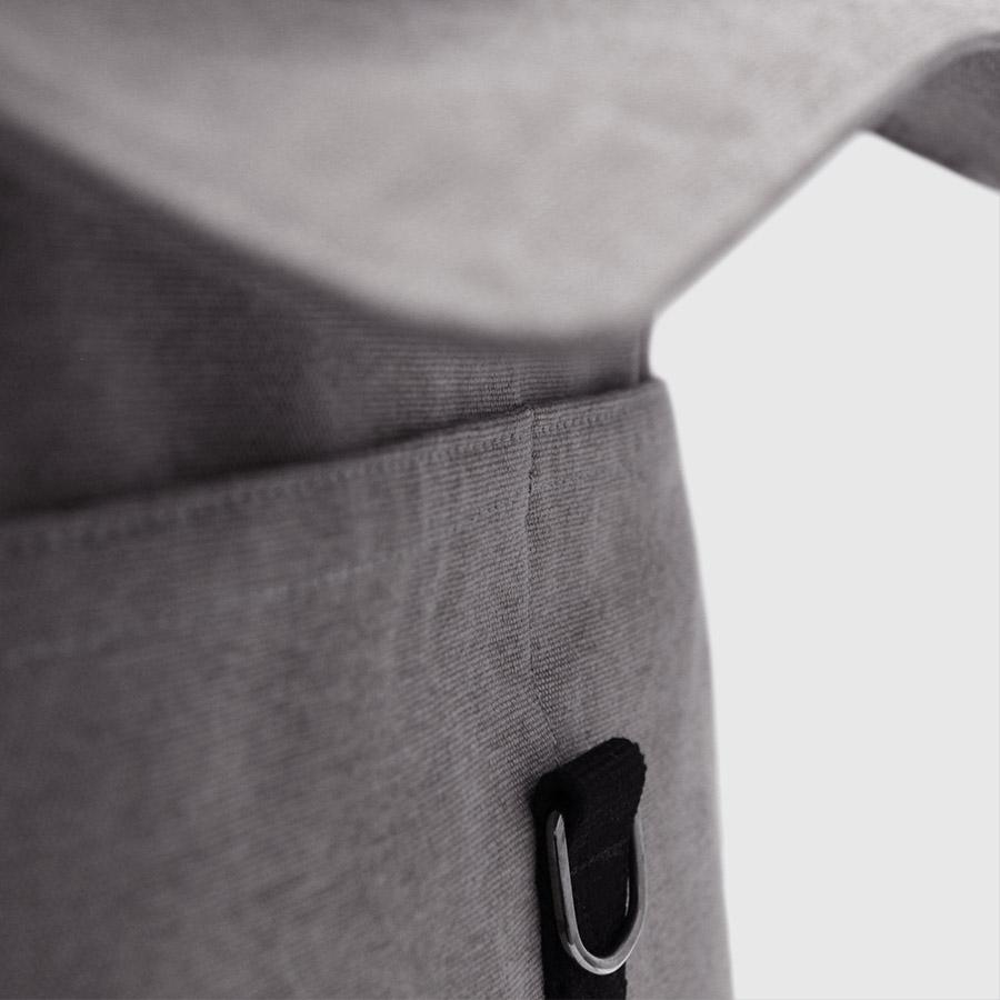 barcelona gris hebilla plateada