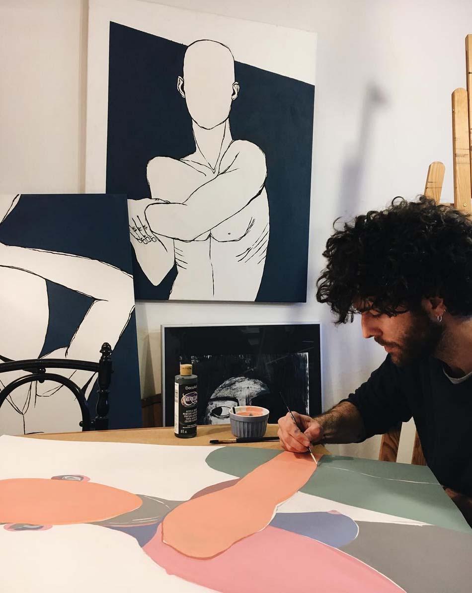 Fede Pouso en su taller