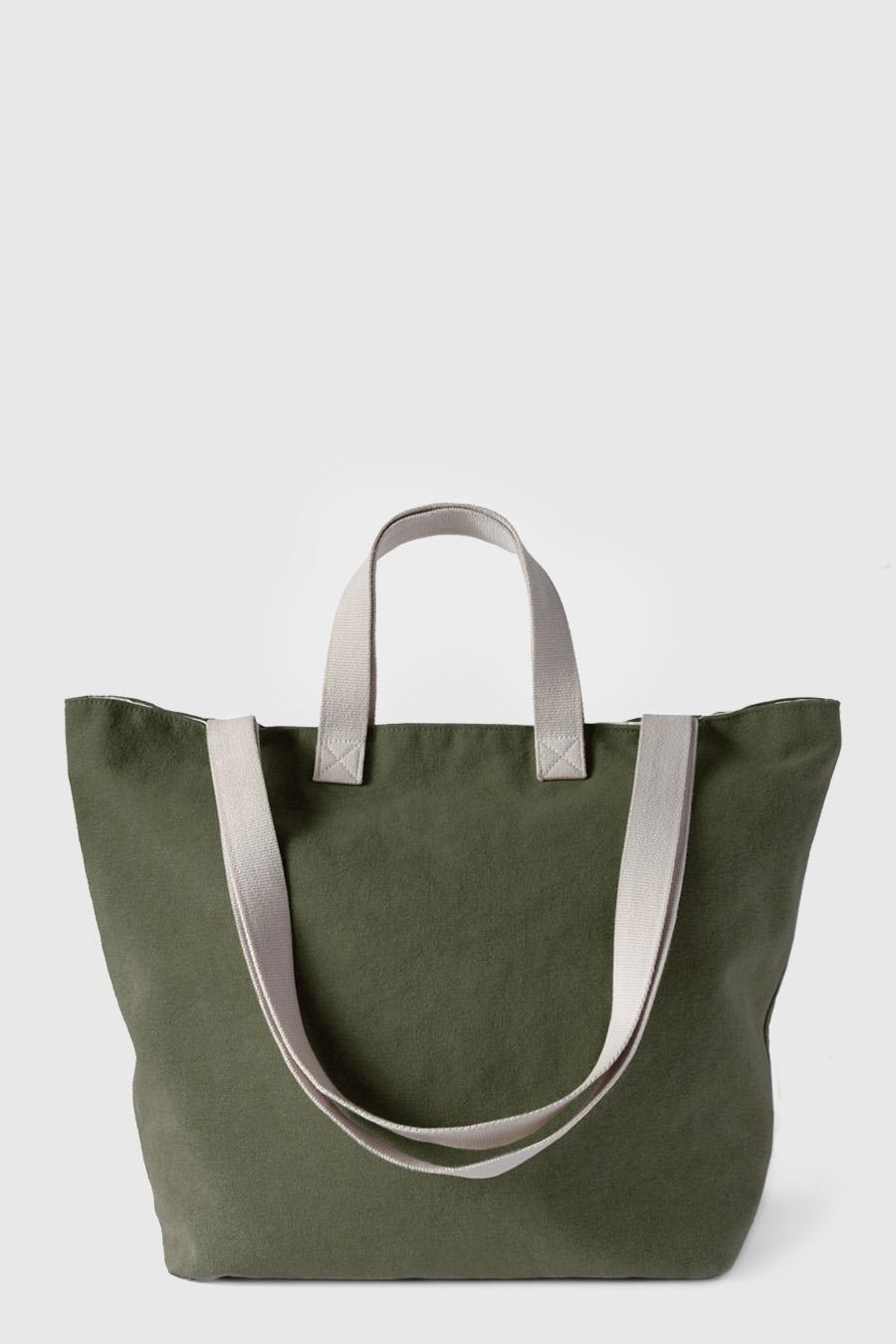 Bolsa grande para la playa impermeable color verde made in Spain