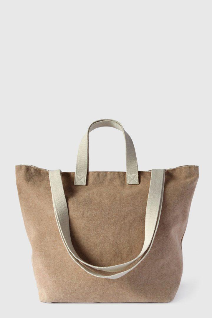 Bolsa grande para la playa impermeable color marron claro made in Spain