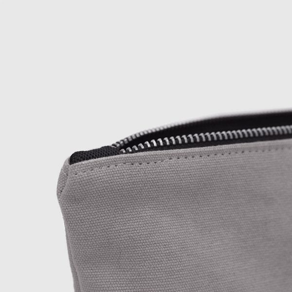 grey canvas zipper case