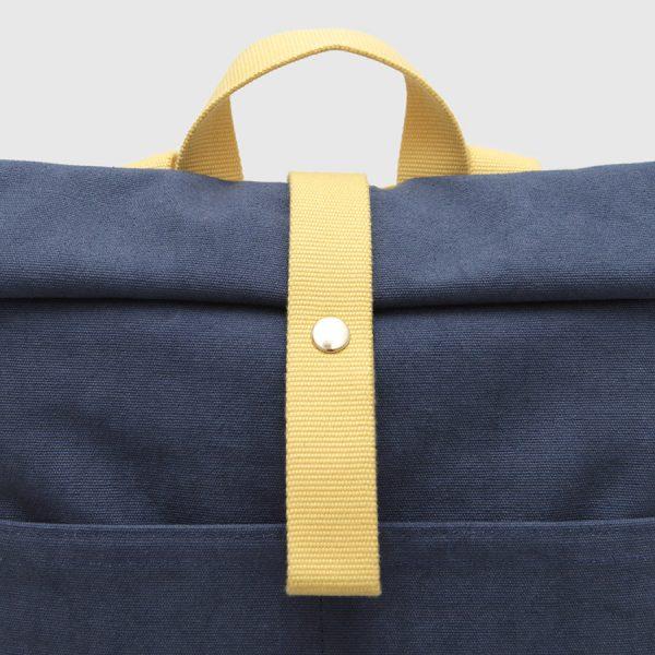 Mochila Nómada azul y amarilla