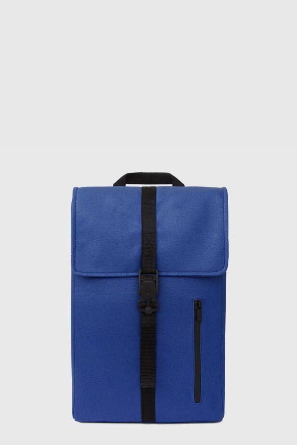 Mochila impermeable estilo urbano color azul hecho en España