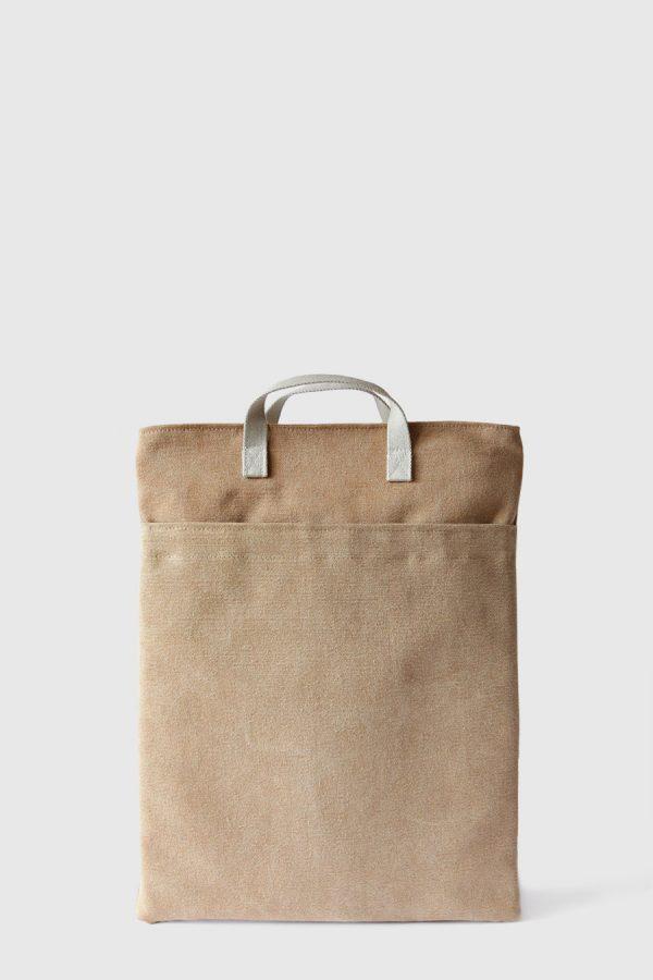 Bolso para portátil color marron claro vegano