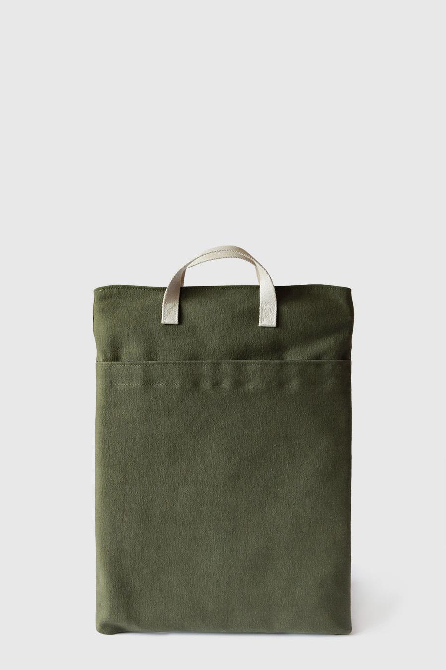 Bolso para portátil color verde vegano