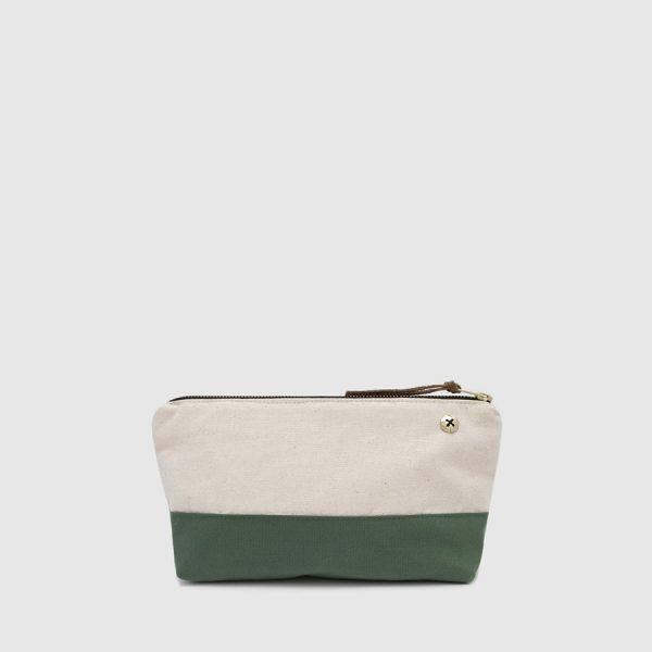 ecru & green multipurpose case