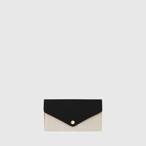 Black & ecru wallet