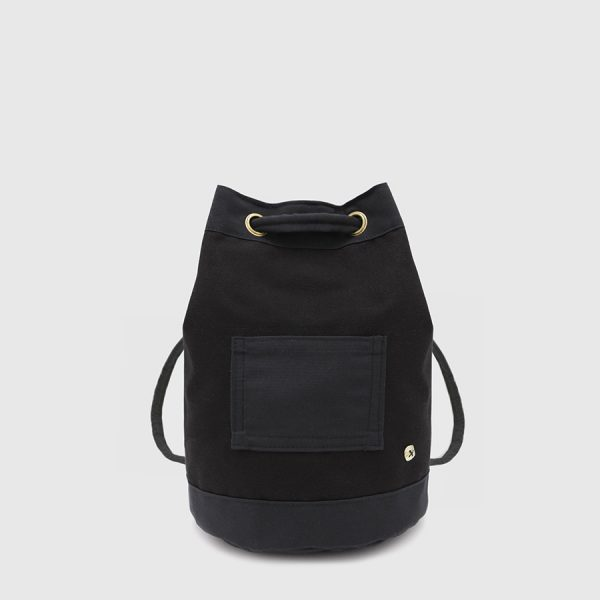 vegan black backpack