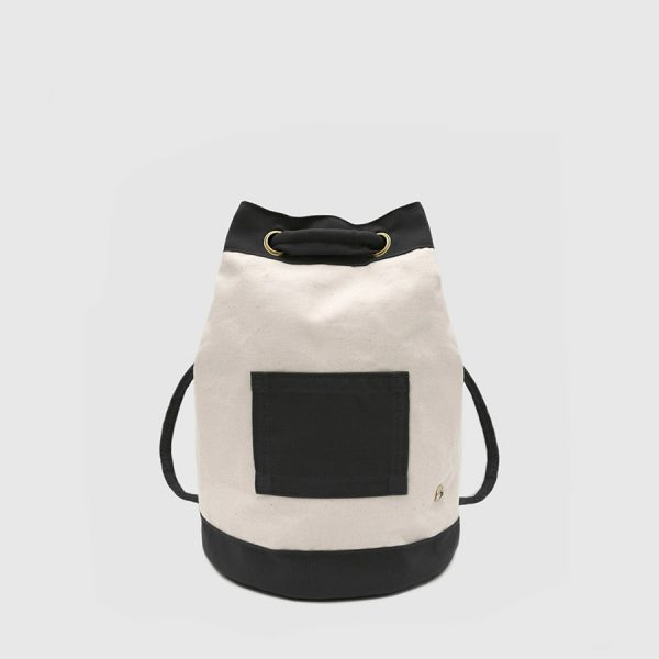 ECRU AND BLACK CANVAS BACKPACK. 1994 MODEL by Botó de Cotó