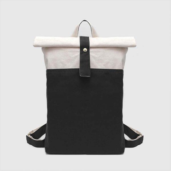 mochila nómada en color negro y crudo