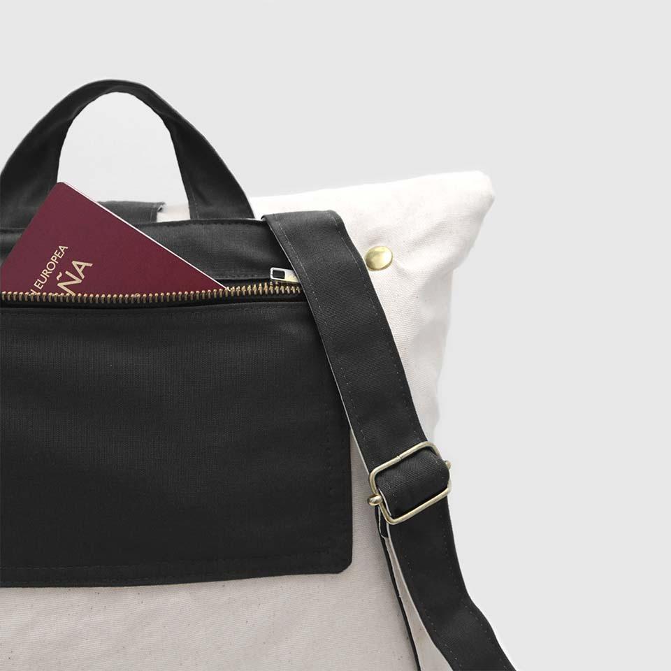 bolsillo de seguridad en mochila
