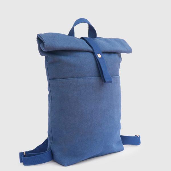 mochila enrollable azul