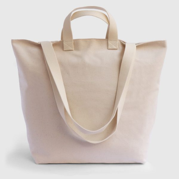 larga ecru canvas bag