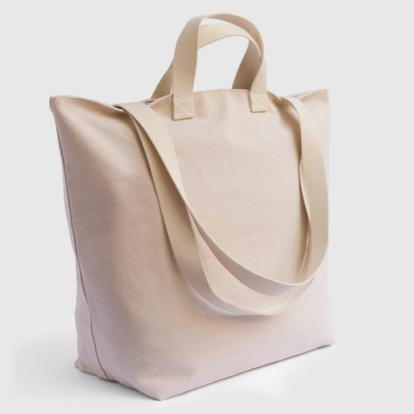 large ecru canvas bag