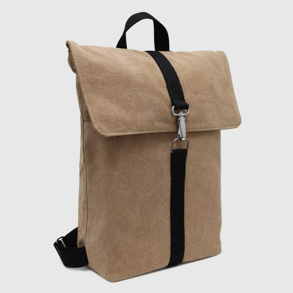 camel canvas backpack