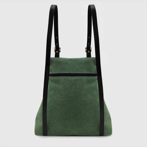 green backpack and back pocket KOS
