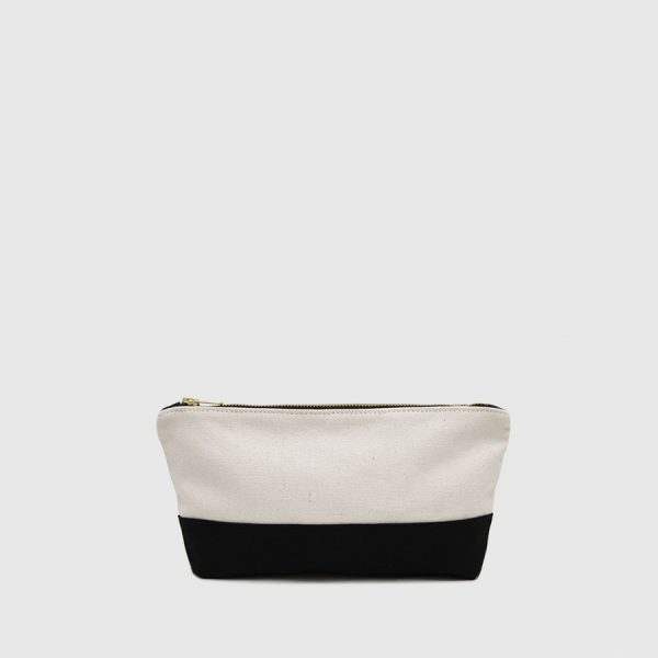 black and white toilet bag