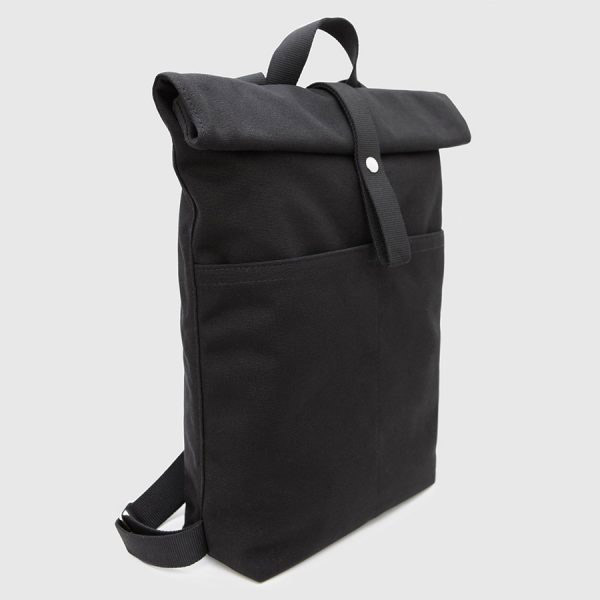 black roll-top bag