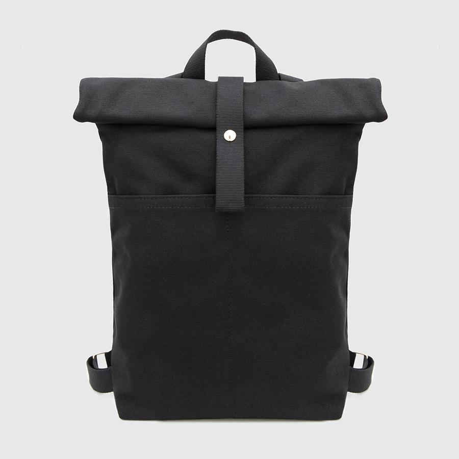 nueva mochila roll-top en negro