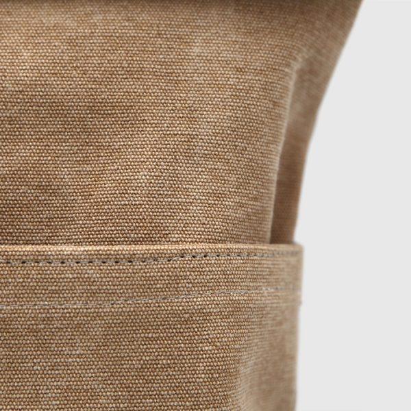 mochila rolltop marrón
