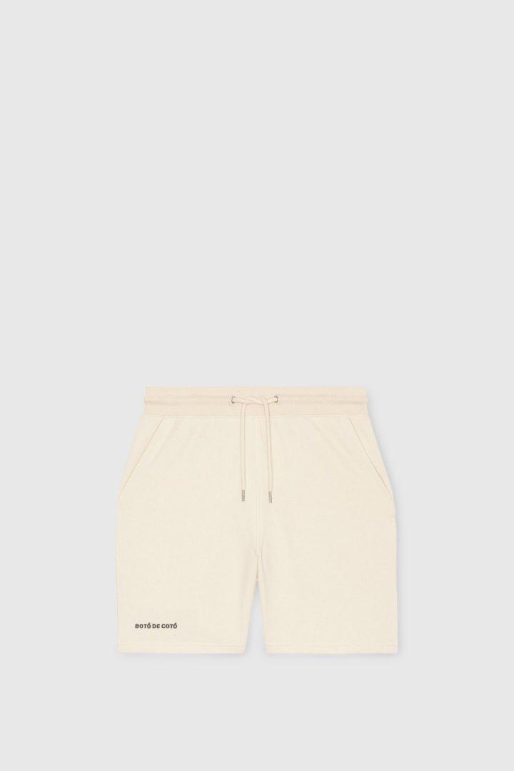 pantalon corto delantero crudo