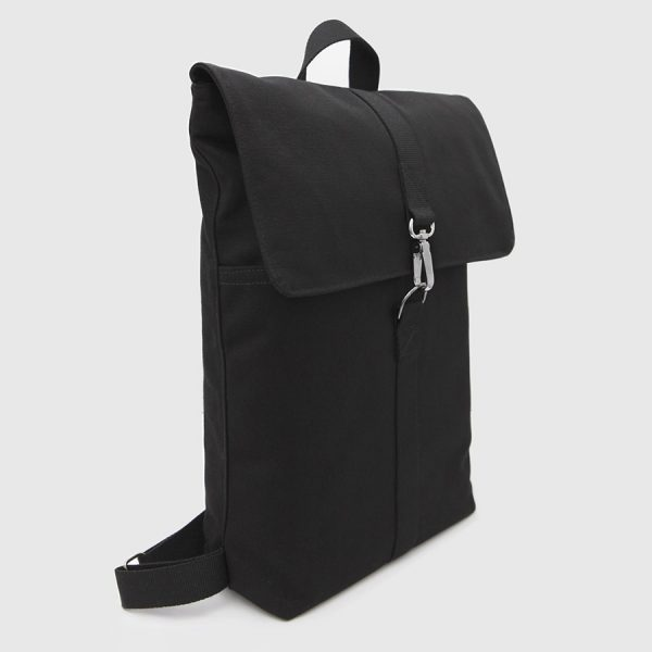 backpack with black lapel